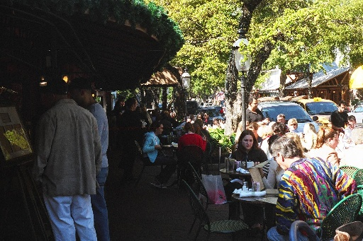 Outdoor cafe in Coconut Grove, Florida